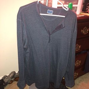 XL Jcrew navy Henley long sleeve